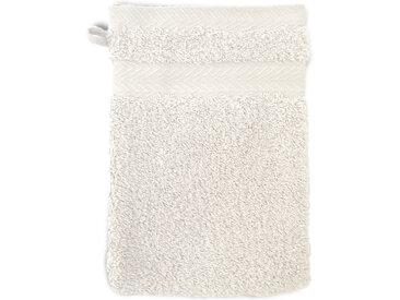 Gant de toilette 16x21 cm ROYAL CRESENT Blanc Crème 650 g/m2