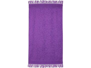 Drap de plage Fouta 100x180 cm 100% coton 340 g/m² PULA Motifs cristaux Violet
