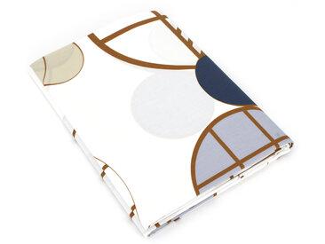 Drap plat 240x310 cm Percale 100% coton ROMEO bleu Baltique
