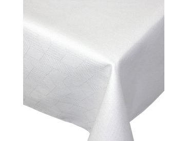Nappe rectangle 150x350 cm Jacquard 100% coton CUBE blanc