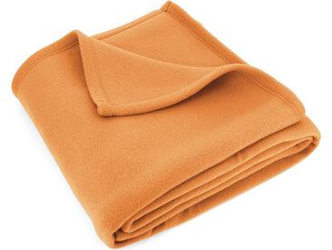 Couverture polaire 180x220 cm Isba Miel 100% Polyester 320 g/m2 traité non-feu