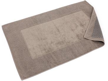 Tapis de bain antidérapant 60x90 cm velours PRESTIGE marron Taupe
