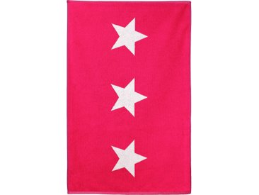 Tapis de bain 60x90 cm 100% coton 700 g/m2 STARS Rose