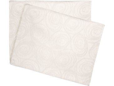 Lot de 2 sets de table 35x45 cm Jacquard 100% coton SPIRALE ecru