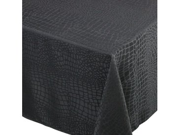 Nappe rectangle 150x200 cm Jacquard 100% polyester LOUNGE noir