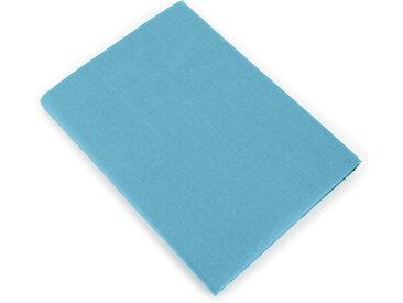 Drap plat uni 240x310 cm 100% coton ALTO bleu sky