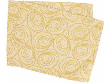 Lot de 2 sets de table 35x45 cm Jacquard 100% coton SPIRALE jaune citron