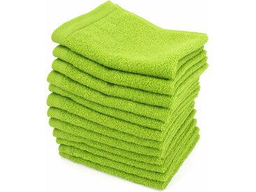 Lot de 12 serviettes invité 30x30 cm ALPHA vert Pistache