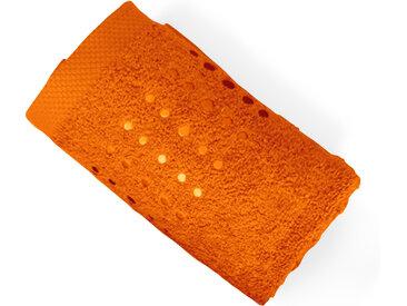 Serviette de toilette 50x100 cm 100% coton 550 g/m2 PURE POINTS Orange Butane