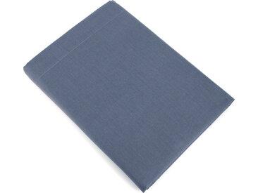 Drap plat uni 270x310 cm 100% coton ALTO bleu Jean