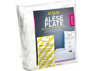 Alèse plate 100x200 cm ACHUA Molleton 100% coton 400 g/m2 matelas 15cm à 23cm