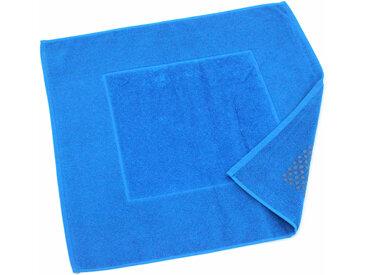 Tapis de bain antidérapant 60x60 cm velours PRESTIGE bleu Turquoise