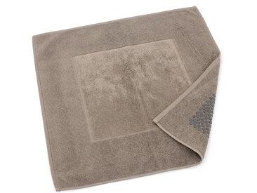 Tapis de bain antidérapant 60x60 cm velours PRESTIGE marron Taupe