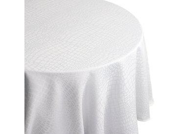 Nappe ovale 180x300 cm Jacquard 100% polyester LOUNGE blanc