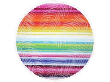 Fouta ronde doublée éponge D180 cm KINGSTON motif multicolore