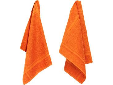 Lot de 2 torchons de cuisine 50x50 cm éponge PURE KITCHEN TERRY Orange