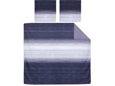Parure de lit 280x240 cm Percale pur coton JAZZ Bleu 3 pièces