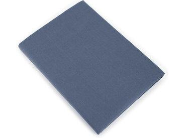 Drap plat uni 240x310 cm 100% coton ALTO bleu Jean