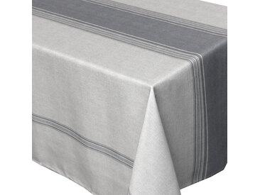 Nappe rectangle 150x250 cm imprimée 100% polyester BISTROT gris Charbon