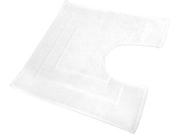 Tapis de bain contour WC et lavabo 60x60 cm FLAIR Blanc 1500 g/m2