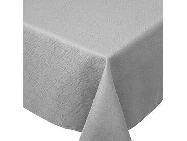 Nappe rectangle 150x250 cm Jacquard 100% coton CUBE gris Perle