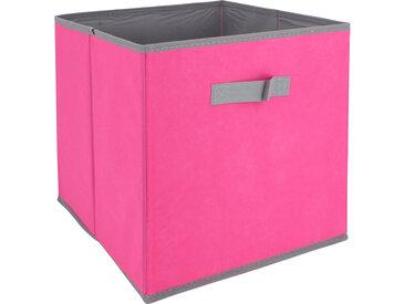Cube de rangement cartonnée 27L rose
