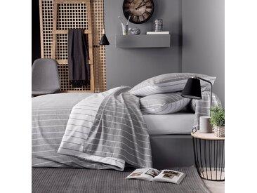 Parure de drap 240x300 cm flanelle de coton WILLIAM gris 3 pièces