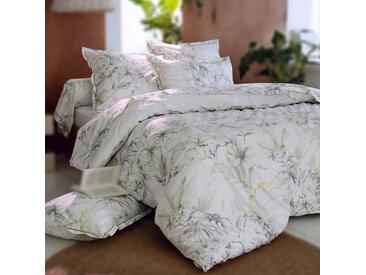 Parure de lit 200x200 cm Percale 100% coton BORNEO blanc 3 pièces
