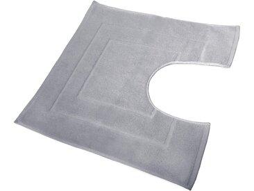Tapis de bain contour WC et lavabo 60x60 cm FLAIR Gris Calcium 1500 g/m2