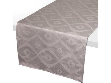 Chemin de table 45x150 cm Jacquard 100% polyester BRUNCH taupe