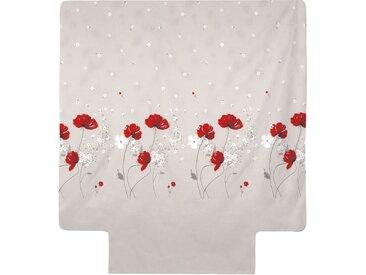Housse de couette 260x240 cm Percale pur coton CYBELE FLOWERS Ecru
