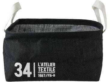 Panier de rangement 13L en jute noir / 34 L'ATELIER TEXTILE