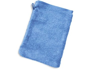 Gant de toilette 16x21 cm PURE Bleu Mer 550 g/m2