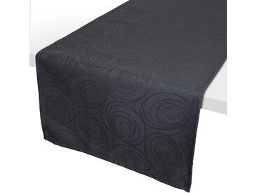 Chemin de table 45x150 cm Jacquard 100% coton SPIRALE anthracite