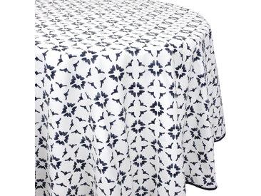 Nappe ronde 170 cm 100% coton enduction acrylique BELEM blanc