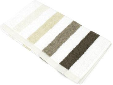 Serviette invité 33x50 cm 100% coton 480 g/m2 CLASSIC STRIPES Marron
