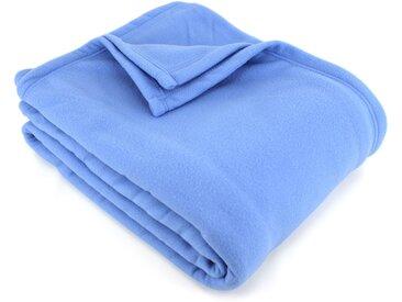 Couverture polaire 240x300 cm 100% Polyester 350 g/m2 TEDDY Bleu Azur
