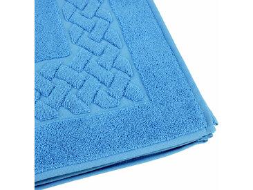 Tapis de bain 50x80 cm ROYAL CRESENT Bleu Ciel 850 g/m2