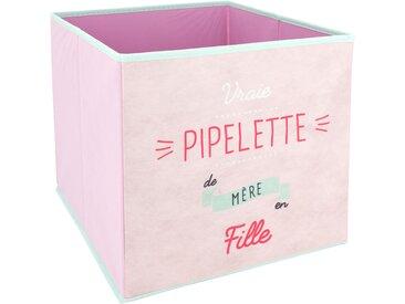 Cube de rangement 27L rose pipelette de mère en fille