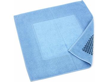 Tapis de bain antidérapant 60x60 cm velours PRESTIGE bleu Ciel