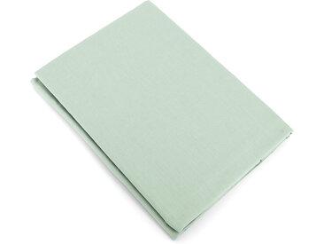 Drap plat uni 180x290 cm 100% coton ALTO vert fleur d'amandier
