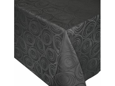 Nappe rectangle 150x200 cm Jacquard 100% coton SPIRALE anthracite