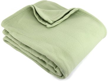 Couverture polaire 180x220 cm 100% Polyester 350 g/m2 TEDDY Vert Tilleul