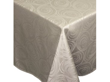 Nappe rectangle 150x200 cm Jacquard 100% coton SPIRALE taupe