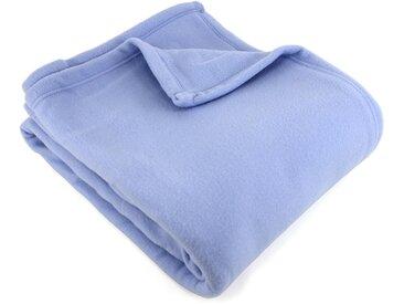 Couverture polaire 240x260 cm 100% Polyester 350 g/m2 TEDDY Bleu Lavande