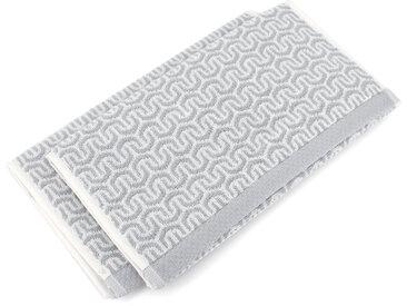 Lot de 2 serviettes invité 33x50 cm GRAPHIC HOOK gris