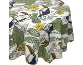 Nappe ovale 170x240 cm BRESIL vert 100% coton + enduction acrylique