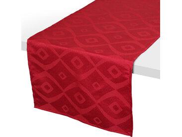Chemin de table 45x150 cm Jacquard 100% polyester BRUNCH rouge