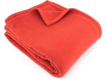 Couverture polaire 220x240 cm 100% Polyester 350 g/m2 TEDDY Rouge Terracotta