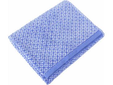 Drap de douche 70x140 cm SHIBORI mosaic Bleu 100% coton 500 g/m2